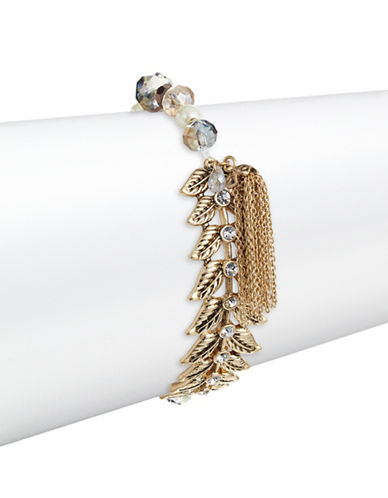 Lonna & Lilly 6MM White Pearl and Crystal Bracelet-BEIGE-One Size