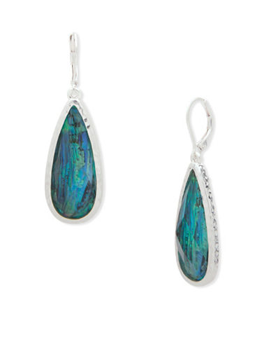 Lonna & Lilly Fallen Leaves Silvertone Drop Earrings-BLUE-One Size