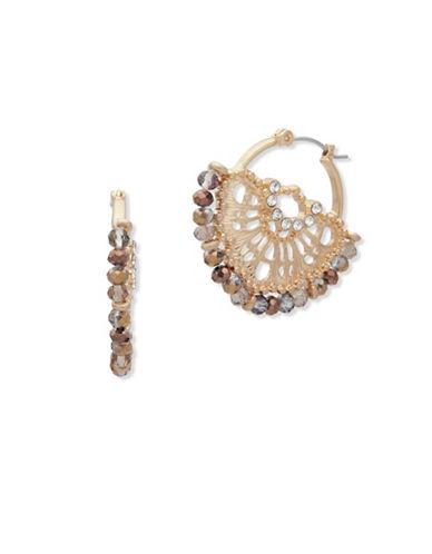Lonna & Lilly Fallen Leaves Filigree Hoop Earrings-GOLD-One Size