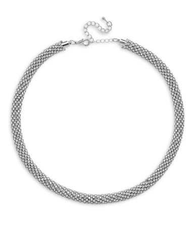 Cezanne Mar Crystal Tube Necklace-SILVER-One Size