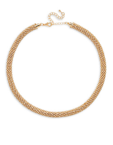 Cezanne Mar Crystal Tube Necklace-GOLD-One Size
