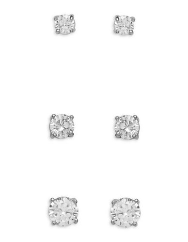 Cezanne Mar Trio Earrings Set-SILVER-One Size