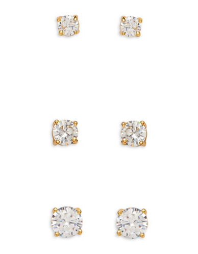 Cezanne Mar Trio Earrings Set-GOLD-One Size