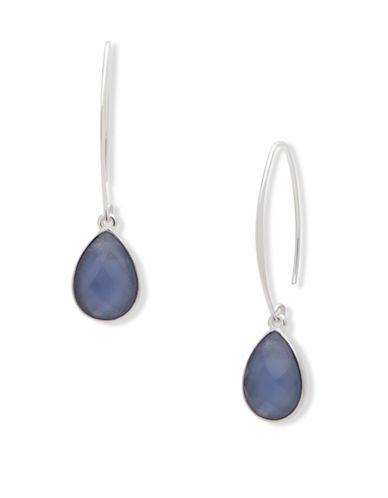 Nine West Garden Glow Mother-of-Pearl Drop Earrings-BLUE-One Size