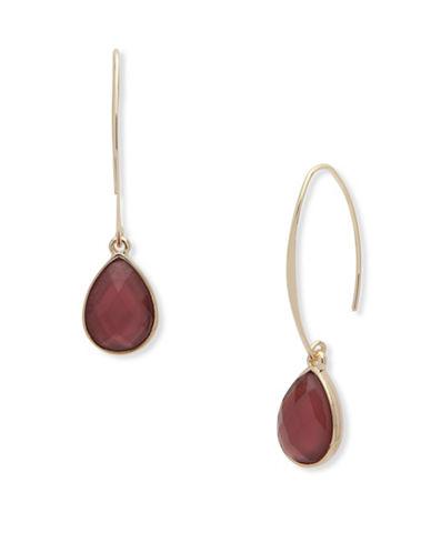 Nine West Garden Glow Mother-of-Pearl Drop Earrings-PURPLE-One Size