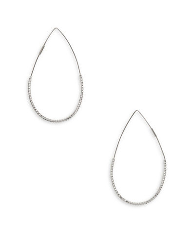 Nine West Forget Me Knot Silvertone Drop Earrings-SILVER-One Size