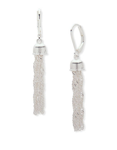 Nine West Forget Me Knot Drop Earrings-SILVER-One Size