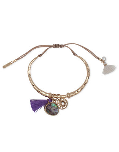 Lonna & Lilly Royal Radiance Tassel Charm Bracelet-GOLD-One Size