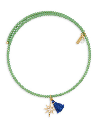 Lonna & Lilly Coil Charm Choker Necklace-GREEN-One Size