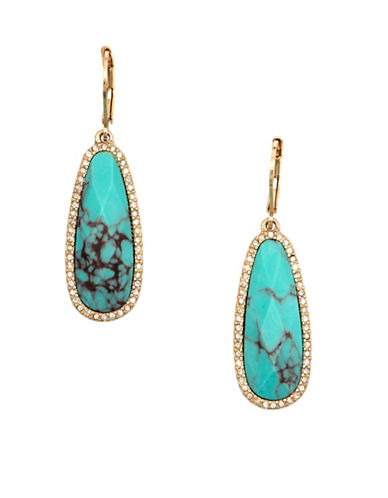 Lonna & Lilly Cabochon Drop Earrings-TURQUOISE-One Size
