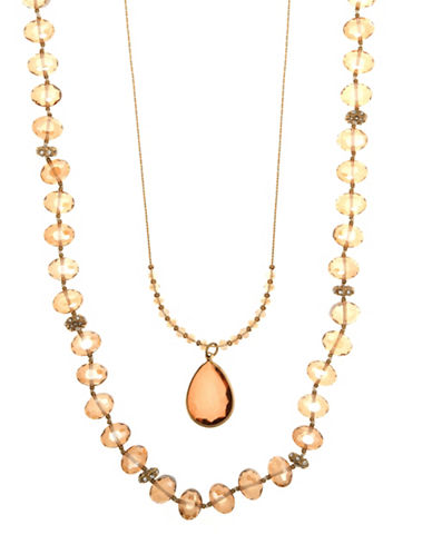 Lonna & Lilly Colour Basics 2-in-1 Necklace-ORANGE-One Size