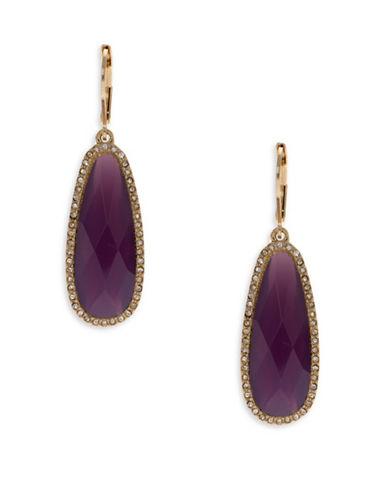 Lonna & Lilly Breeze Mother-of-Pearl Drop Earrings-PURPLE-One Size