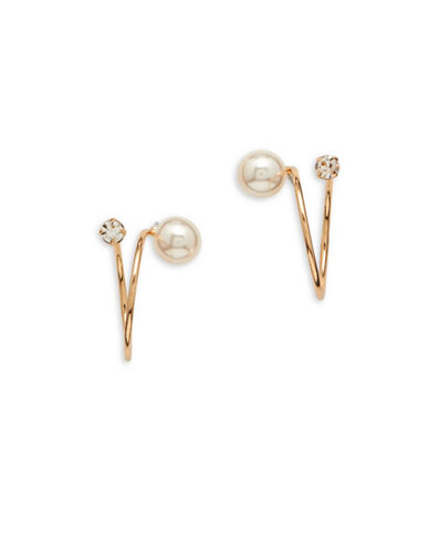 Cezanne Faux Pearl Stud Earrings-PEARL-One Size