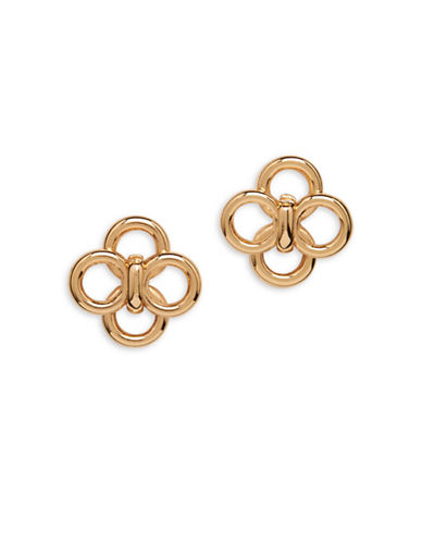 Anne Klein Goldtone Circular Stud Earrings-GOLD-One Size
