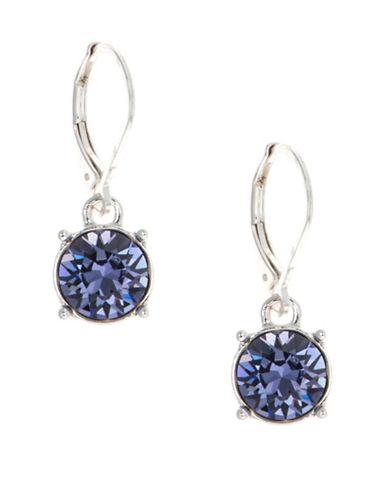Anne Klein Crystal Drop Earrings-PURPLE-One Size
