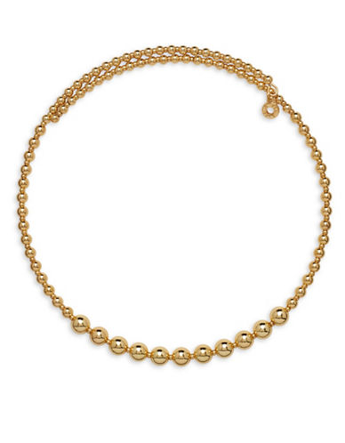 Anne Klein Goldtone Beaded Choker Necklace-GOLD-One Size