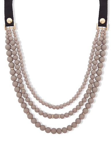 Anne Klein Meet Matte Multi-Strands Necklace-GREY-One Size