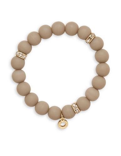 Anne Klein Meet Matte Beaded Necklace-GREY-One Size