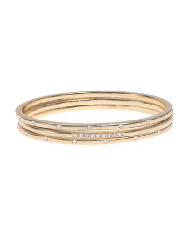 Anne Klein Studded Bangle-GOLD-One Size