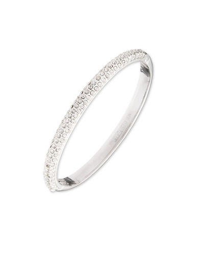 Anne Klein Pave Studded Bangle-SILVER-One Size
