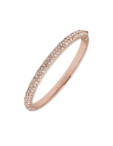 Anne Klein Pave Studded Bangle-ROSE GOLD-One Size