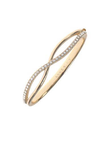 Anne Klein Infinity Studded Bangle-GOLD-One Size