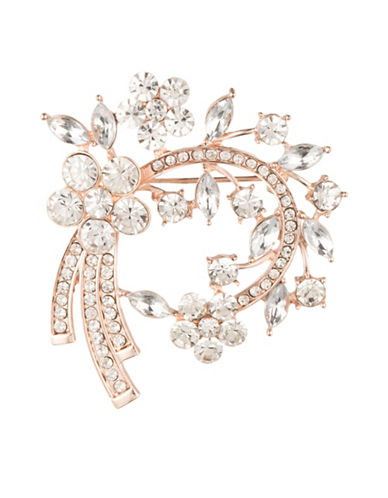 Anne Klein Crystal Arch Brooch-ROSE GOLD-One Size