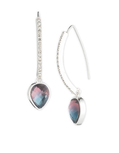 Cezanne Fade to Blue Teardrop Threader Earrings-MULTI-One Size