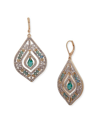 Lonna & Lilly Shimmering Path Chandelier Earrings-GREEN-One Size