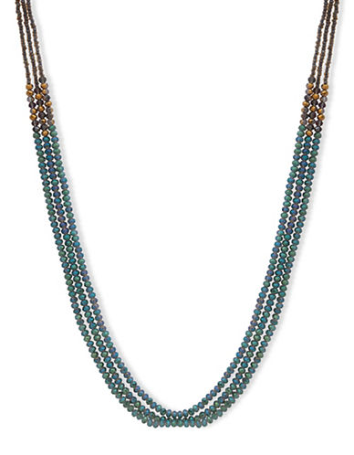 Lonna & Lilly Burst Beaded Strand Necklace-GREEN-One Size