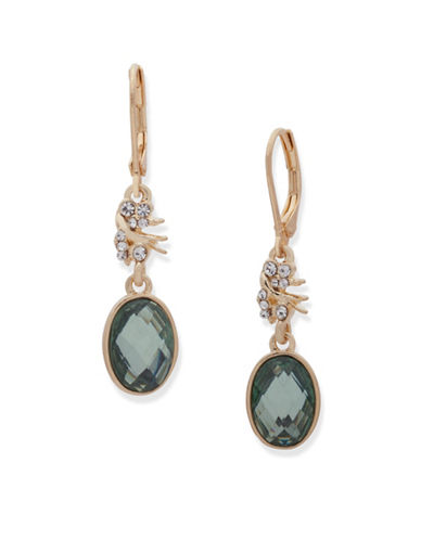 Lonna & Lilly Burst Double Drop Earrings-GREEN-One Size