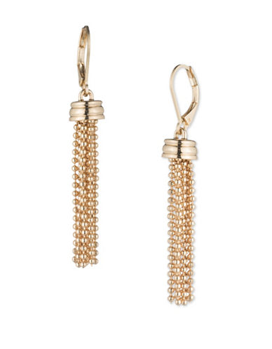 Cezanne Shimmering Lights 12K Gold Drop Earrings-GOLD-One Size