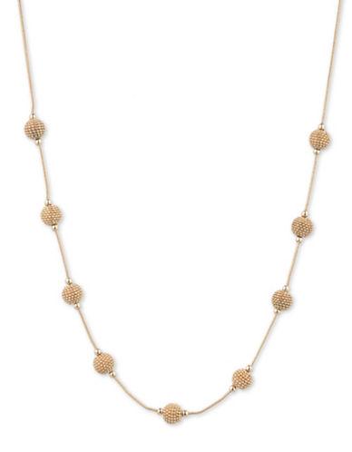 Cezanne Shimmering Lights 12K Gold Station Necklace - 16-GOLD-One Size