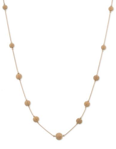Anne Klein Shimmering Lights 12K Gold Station Necklace - 42-GOLD-One Size