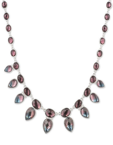 Anne Klein Fade to Blue Collar Necklace-MULTI-One Size