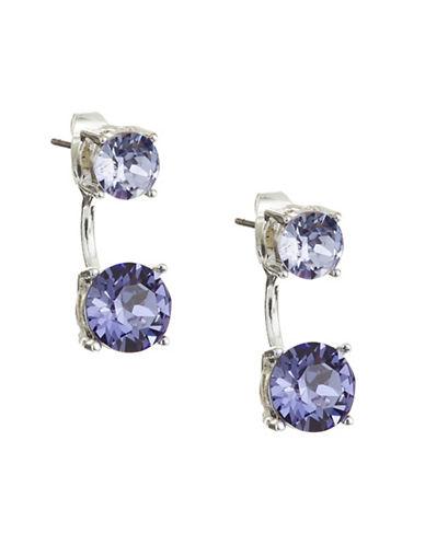 Cezanne Crystal Stud Ear Jacket-PURPLE-One Size