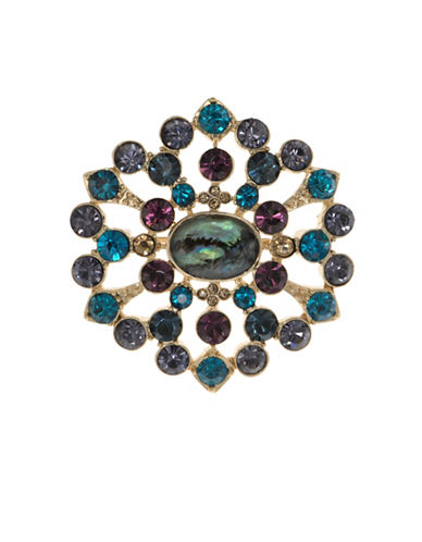 Cezanne Round Crystals Cluster Boxed Pin-MULTI-One Size