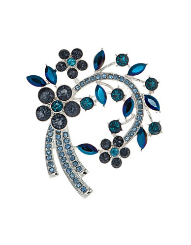 Cezanne Crystal Arched Cluster Boxed Pin-BLUE-One Size