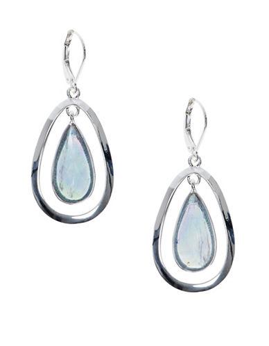 Anne Klein Adventura Studded Drop Earrings-BLUE-One Size