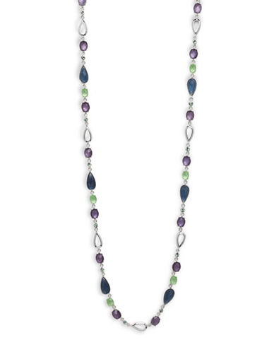 Anne Klein Silver-Plated Aventura 32 Necklace-BLUE-One Size