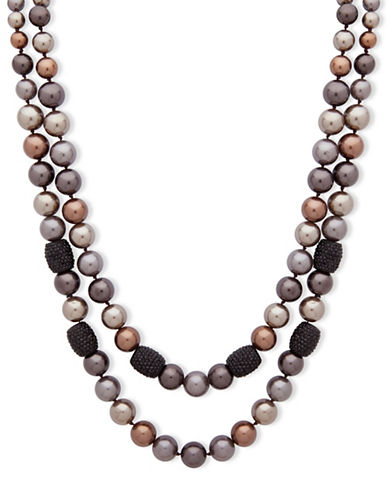 Anne Klein Dark Decadence Crystal Beaded Necklace-ASSORTED-One Size