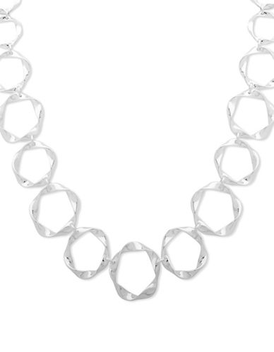 Nine West With A Twist Necklace-SILVER-One Size