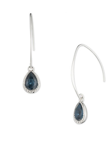 Nine West Colourbound Enamelled Stone Drop Earrings-BLUE-One Size