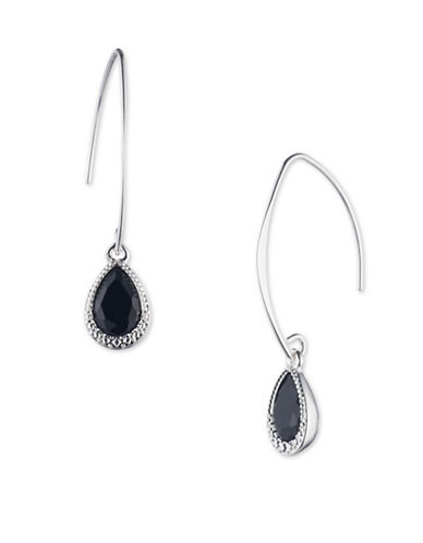 Nine West Colourbound Drop Earrings-BLACK-One Size