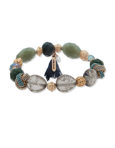Lonna & Lilly Shimmering Path Beaded Bracelet-GREEN-One Size