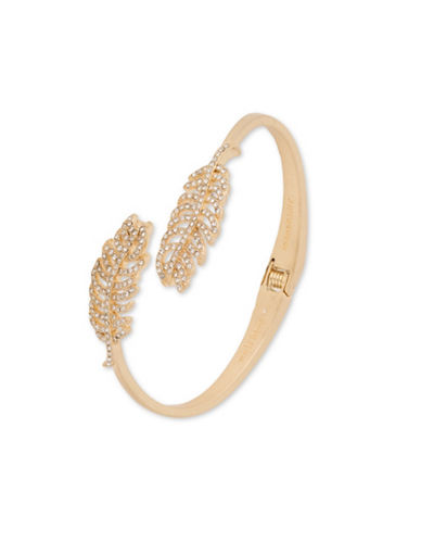 Lonna & Lilly Feather Cuff Bracelet-GOLD-One Size