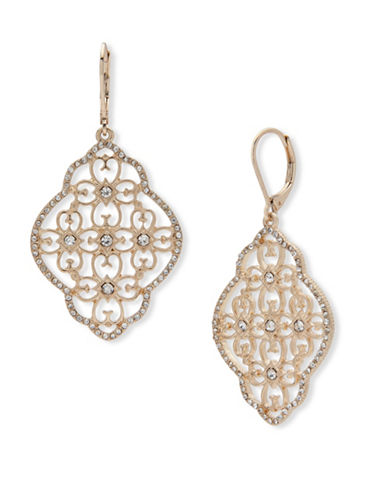 Lonna & Lilly Filigree Chandelier Earrings-GOLD-One Size
