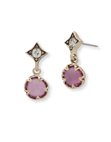Lonna & Lilly Small Post Drop Earrings-PLUM-One Size