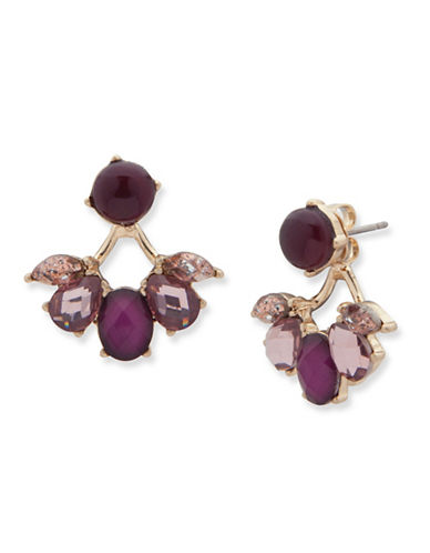 Lonna & Lilly Spiced Floater Drop Earrings-BURGUNDY-One Size