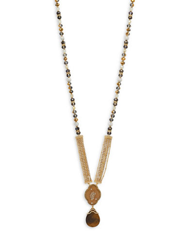 Lonna & Lilly Crystal Pendant Necklace-MULTI-One Size